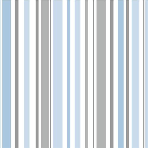 Imagem 1 de 5 de Papel De Parede 7441 Azul E Cinza 52cm Com 10 Metros