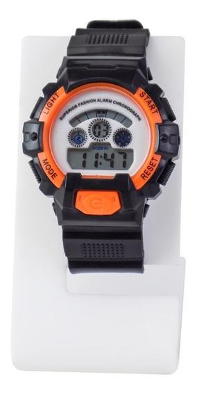 Relógio Masculino Digital Original Laranja À Prova D