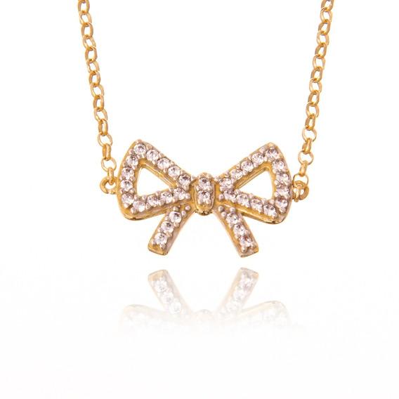 Pulseira De Ouro 18k Laço Mais Diamantes R12