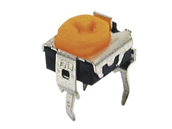 50un Mini Trimpot Horizontal 3k3 332 Amarelo 7824