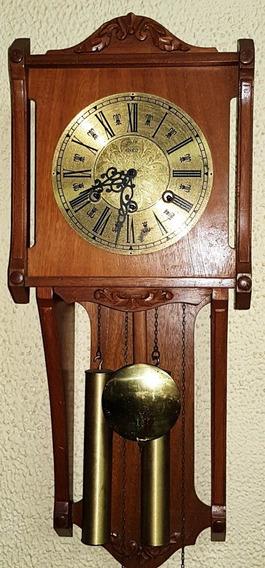 Relógio Antigo De Parede Eska Original Em Carvalho