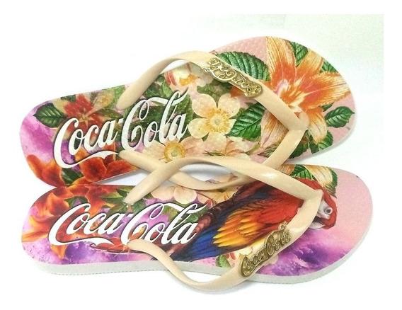 Kit 10 Pares Chinelos Coca Cola Sandálias N2 Atacado Chinelo