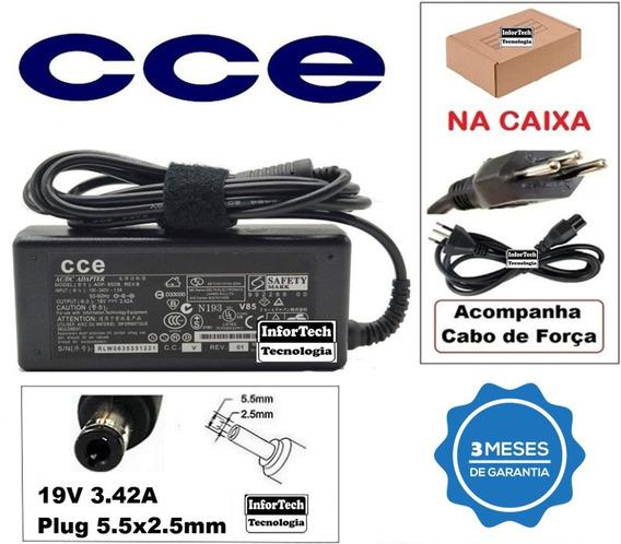 Fonte Carregador Para Notebook Cce 19v 3.42a