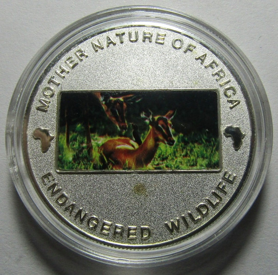 Malawi Moneda 10 Kwacha 2004 Naturaleza Ciervo Niquel Km#89