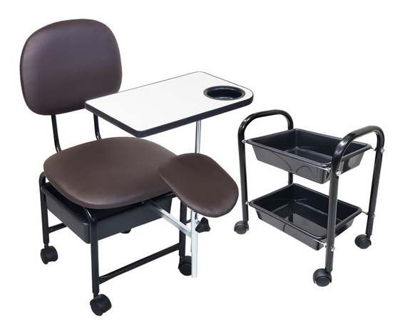 Cadeira Manicure Cirandinha Com Suporte E Cm2 Café Facto