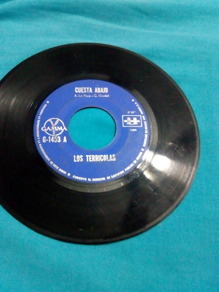 Los Terricolas 2 Cosas. Disco Acetato Lp De 45 Rpm