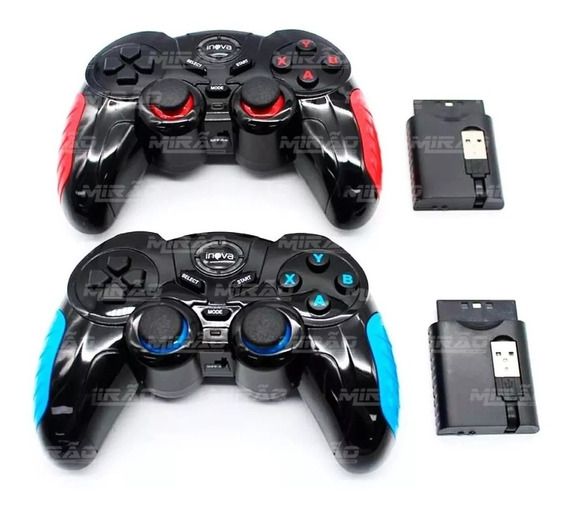 Controle Para Ps1 Ps2 Ps3 Tv Android Pc Xbox 360 Sem Fio