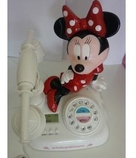 Teléfono Disney Minnie Display Lcd Luz Led Regalo Nena Mujer