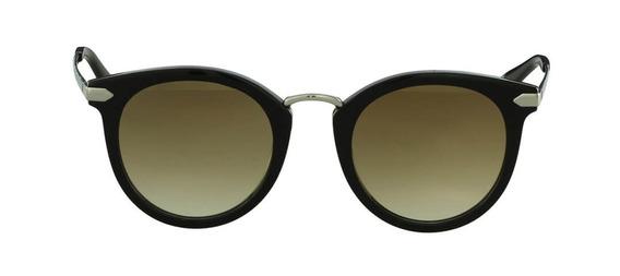 Óculos De Sol Hickmann Hi 9039 - A02 Preto E Prata Brilho