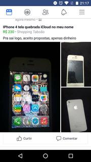 iPhone 4 Tela Quebrada