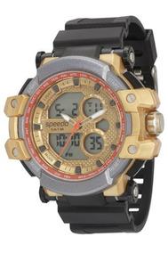 Relógio Speedo Masculino Preto E Dourado 81108g0evnp1