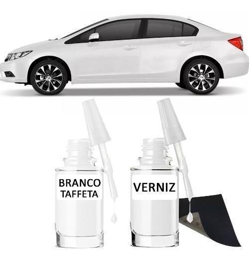 Tinta Tira Risco Automotivo Honda Civic Cor Branco Taffeta