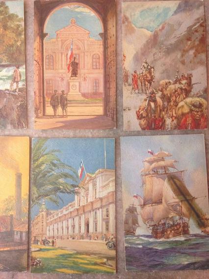 Postales Pintadas Decada 1940 Origen Ingles (valor Unitario)