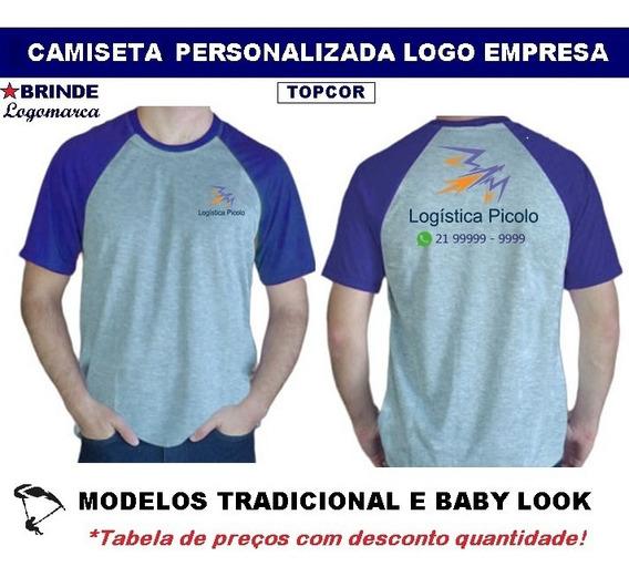 Camisetas Topcor Personalizada Logo Empresa Uniforme - 04 Pç