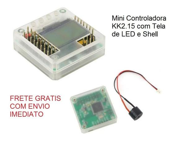 Mini Controladora Kk2.15 Com Tela De Led Com Shell
