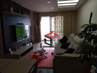 Apartamento Com 3 Dormitórios À Venda, 93 M² Por R$ 650.000 - Vila Valparaíso - Santo André/sp - Ap61815