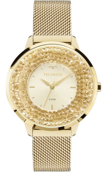 Relógio Feminino Technos Crystal Swarovski 2035mLG/4x