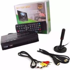 Kit Conversor Digital Tv+ Antena Digital Interna Cabo 4 Mt