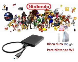 Nintendo Wii Con Chip Más De 160 Juegos Y Disco Duro 500gb