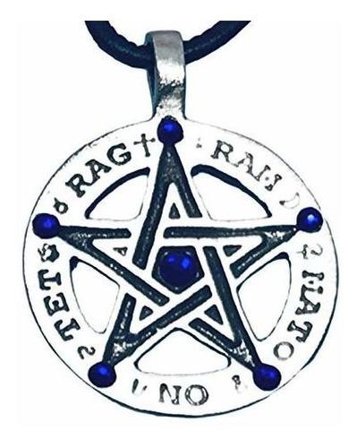 Trilogia Joyas Peltre Pentagrama Tetragrammaton Runas Colgan