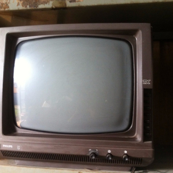 Televisão Tv Philips Tx Antiga Vintage No Estado