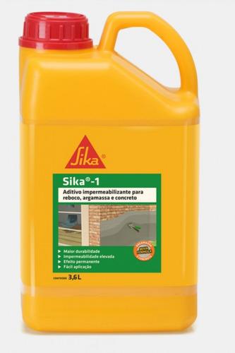 Imagem 1 de 1 de Aditivo Impermeabilizante Sika 1 Galão 3,6 L