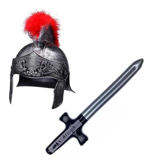 Disfraz Soldado Romano Hombre Casco Espada Halloween Fiesta