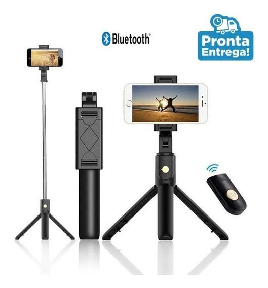 Bastão Pau De Selfie Bluetooth Mini Tripe Controle Celular