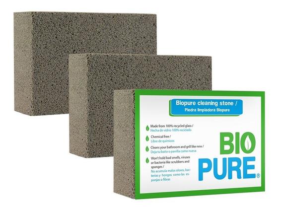 Kit 3x Piedra Pomez Para Limpiar Baños Y Parrillas