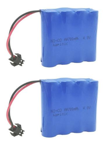 Hapinic 2pcs 4.8v 700mah Rc Batería Recargable Ni-cd Aa