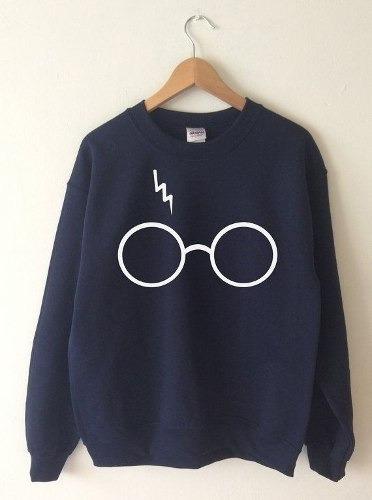 Blusa Moletom Harry Potter Óculos Flanelado Masculino Femini