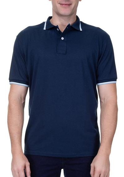 Camisa Polo Colombo Masculina Com Detalhe Roxo 46827