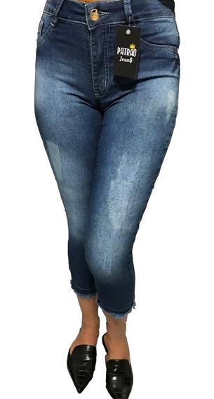 Calca Feminina Jeans Capri Lycra Curta Verão Liquida Tam 36