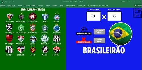 Simulador De Jogos Do Brasileirao Serie A 2017 Excel Mercado Livre
