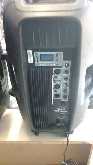 Caixas Acústicas Ativa Wls Gp 15 Usb E Passiva (par)