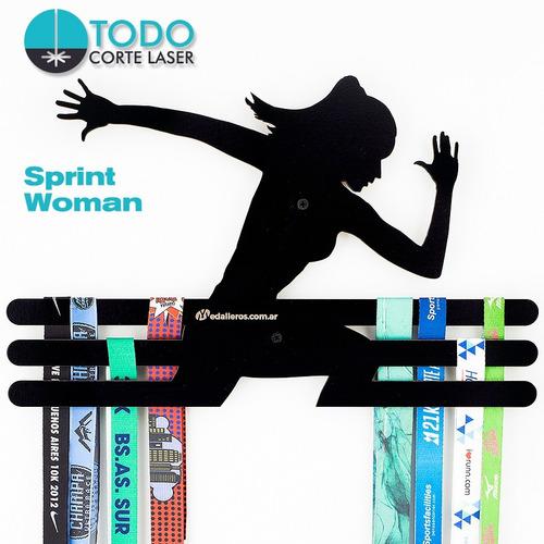 Imagen 1 de 4 de Medallero Running Atletismo Deportivo Modelo Sprint Woman Xl