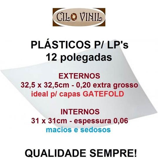 Plásticos P/ Lp Capa Gatefold 25 Externos 0,20 + 25 Internos