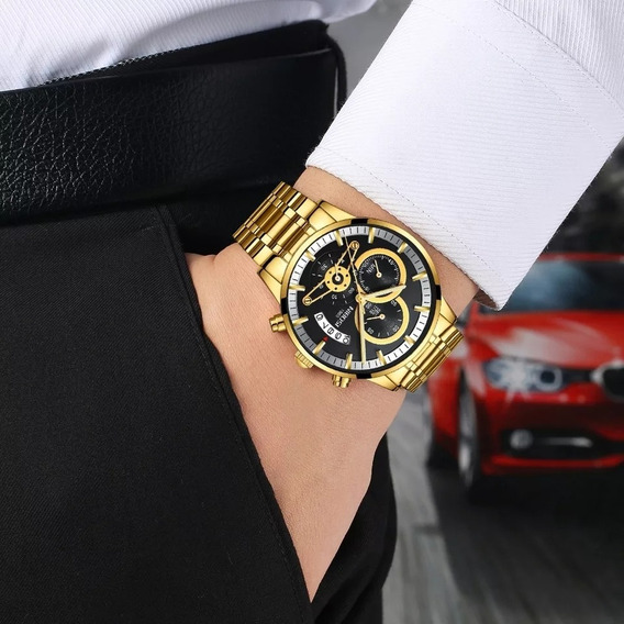 Relógio Nibosi Luxo Super Resistente