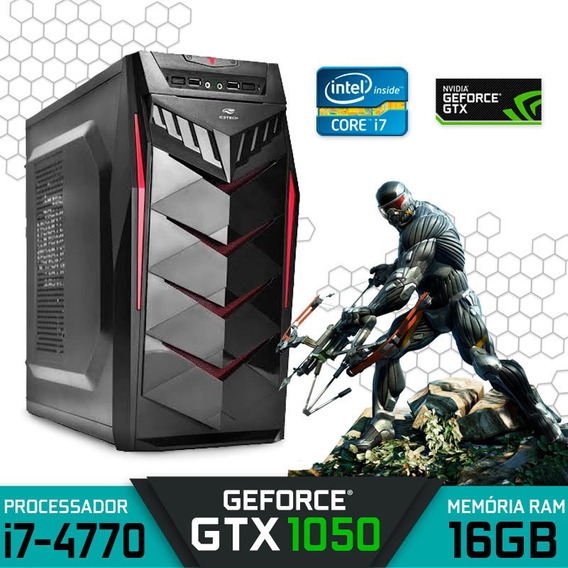 Computador Gamer Intel I7-4770 Ram 16gb Hd 1tb Gtx 1050 2gb