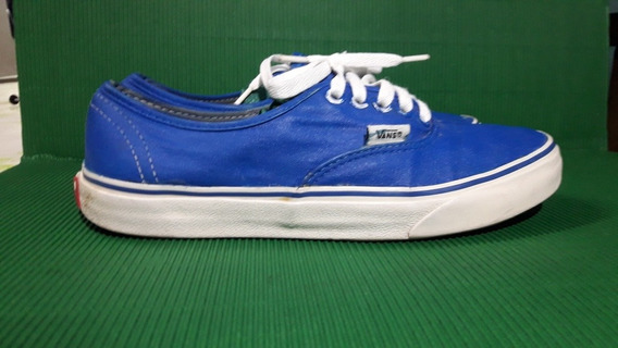 Zapatillas Vans Autentic De Mujer N37 Color Azul
