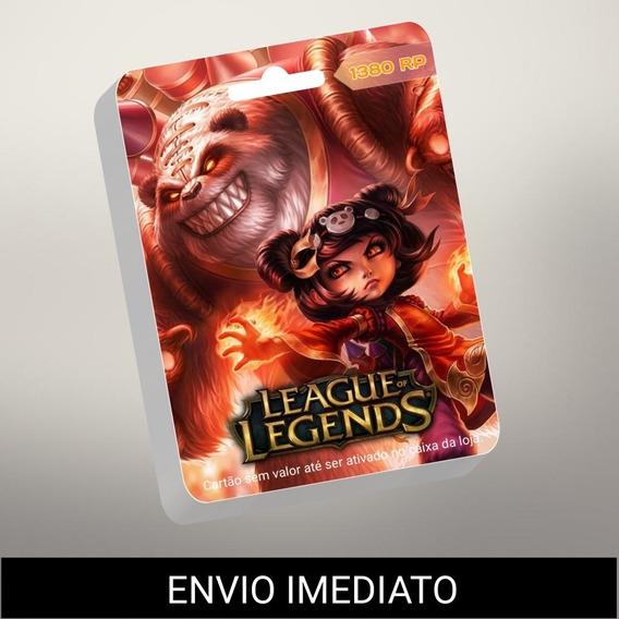 League Of Legends Lol - 1380 Riot Points Apenas R$ 30 Reais