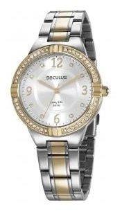 Relógio Seculus Feminino Ref: 28966lpsvba1 Social