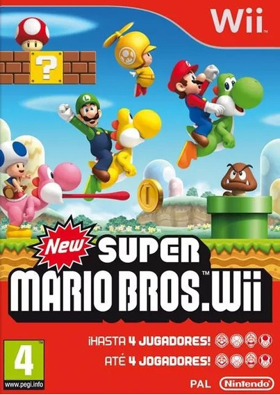 New Super Mario Bros. Wii Original Lacrado
