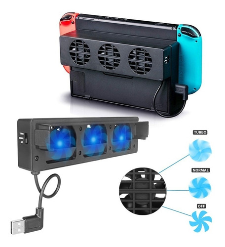 Imagen 1 de 3 de Ventilador Refrigeración Nintendo Switch