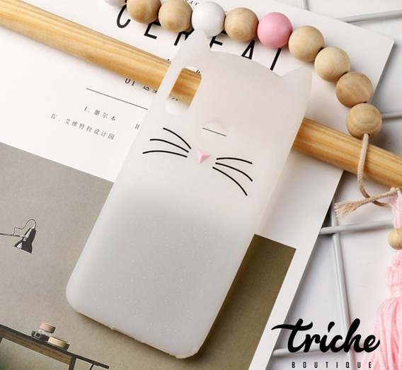 Funda Botarga Diseño Gato Bigotes Colores Xiaomi Mi A2 Lite