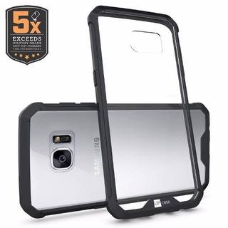 Capa Bumper Para Galaxy S7 Edge Air Hybrid Preta - Up Case