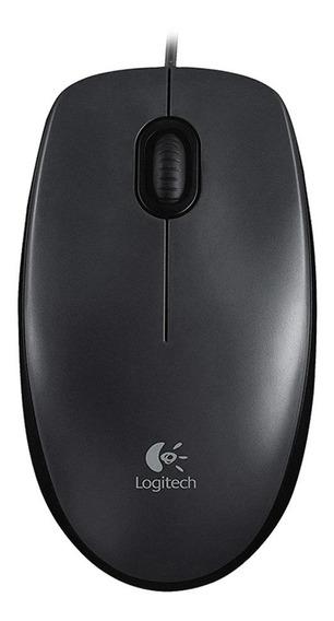 Mouse Ótico Usb Com Fio Logitech M90 1000dpi