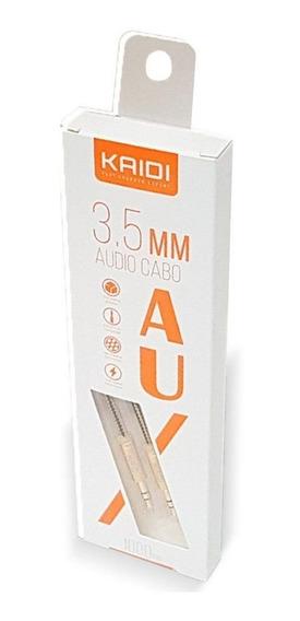 Cabo Auxiliar Kaidi Áudio P2 P2 Stereo 3.5mm Blindado