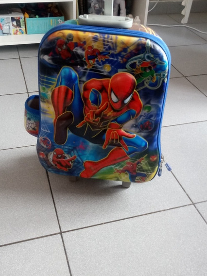 Mochila De Spiderman Con Alto Relieve En Perfecto Estado