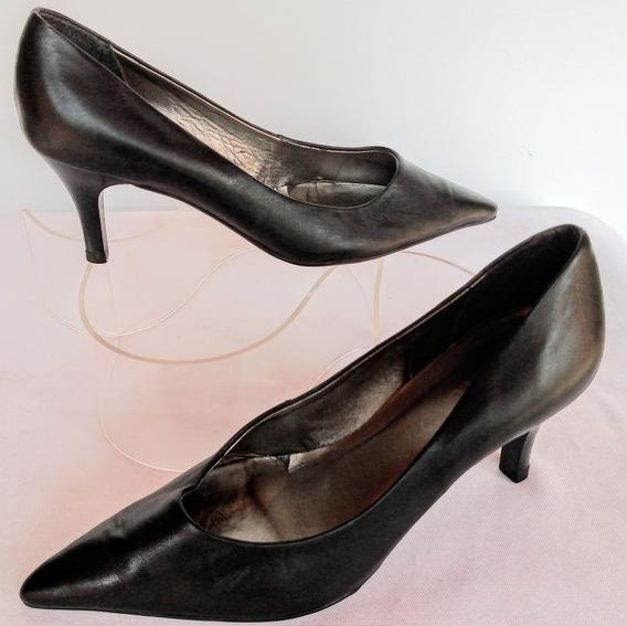 Zapatos Via Uno Cuero Ecologico Nro: Eur 35 Bra 33 Usa 4